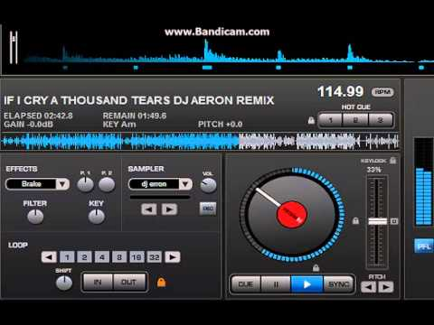 IF I CRY A THOUSAND TEARS dj aeron remix