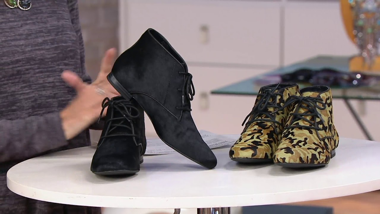 Logo By Lori Goldstein Flat Lace Up Ankle Boots On Qvc Youtube