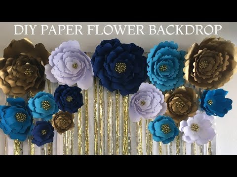 Paper Flower Backdrop with FREE TEMPLATES | Budget Friendly backdrop