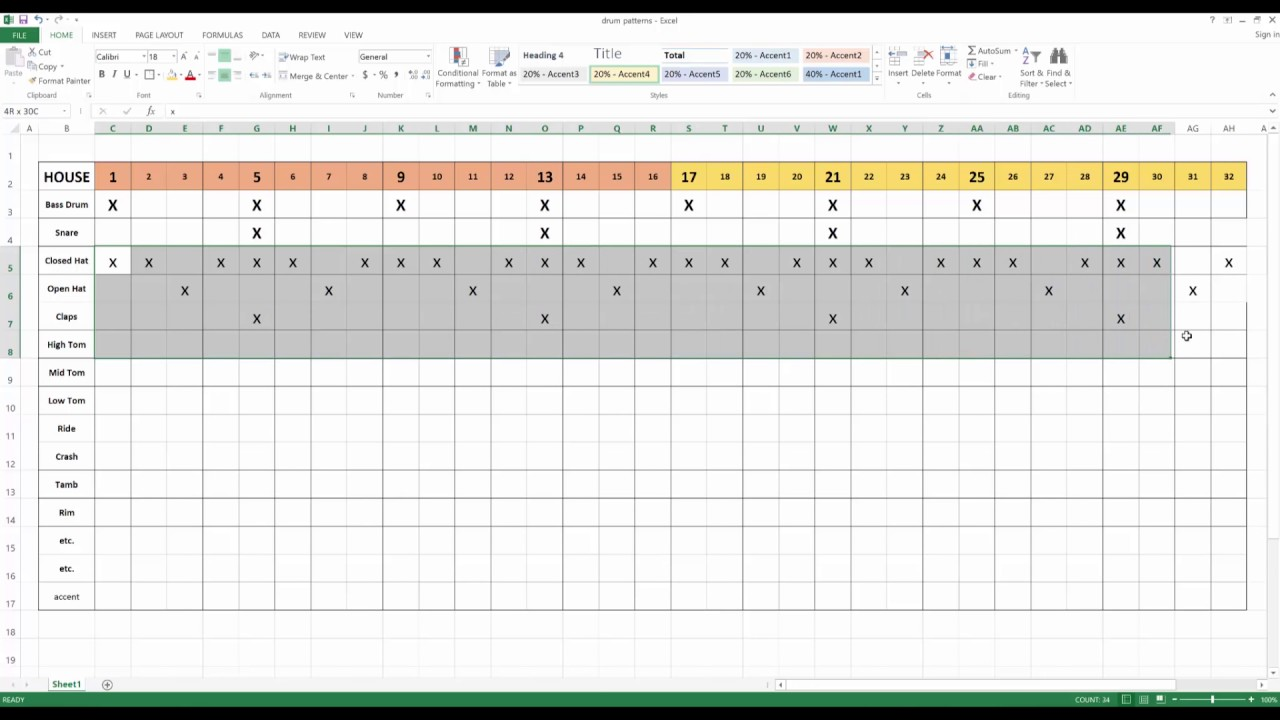diy drum pattern sheets  youtube - diy drum pattern sheets