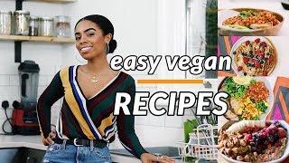 4 EPIC EASY VEGAN RECIPES   Vegan Breakfast & Lunch Recipes thumbnail