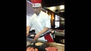 eating at hibachi place. ichibon