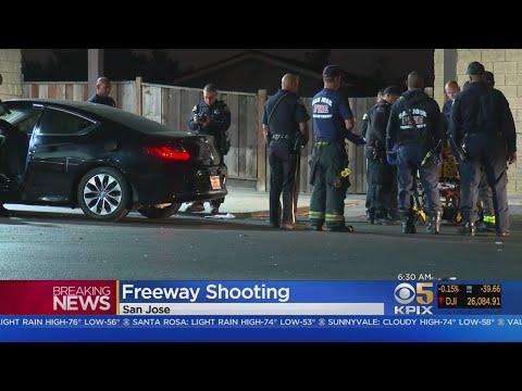 Man Injured In Overnight Freeway Shooting On I-680 In San Jose