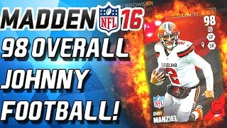 98 OVERALL JOHNNNY MANZIEL! CAMES LEGENDS! - Madden 16 Ultimate Team