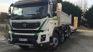 camion ,volvo fmx , remorque , terrassement ,business, POULAIN TP yffiniac