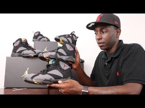 Kids Official Bordeaux Retro 7 Air Jordan Sneaker Comparison Review ... 84a14a758ea7