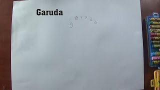Cara Menggambar dan Mewarnai Garuda dari Kata Garuda