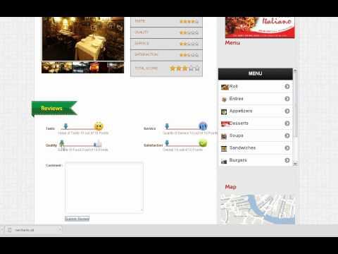 Restaurant Review Website Software