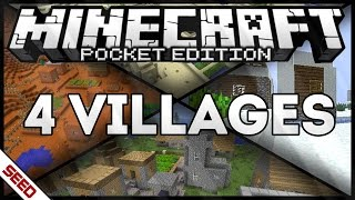 FOUR VILLAGES AT SPAWN - SEED - MINECRAFT PE [0.12.3/0.13.0]