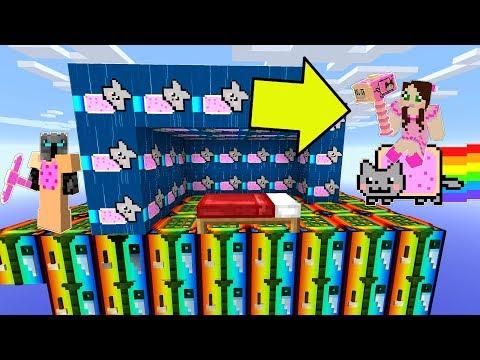 Minecraft: NYAN CAT LUCKY BLOCK BEDWARS! - Modded Mini-Game