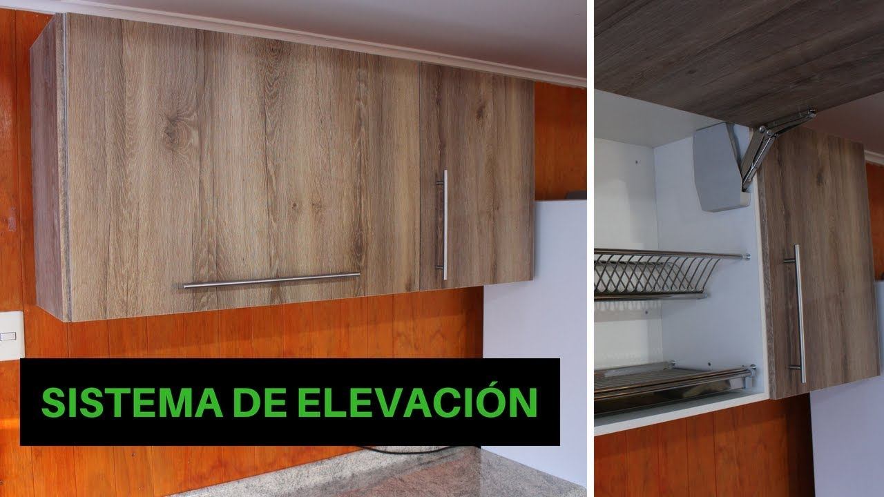 Como hacer un mueble de cocina aéreo - alacena colgante - YouTube