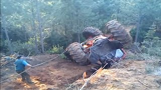 Dangerous Forestry Tractor Best Fails Skill - Amazing Equipment Logging Truck Machines working