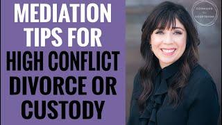 Mediation Tips for High Conflict Divorces or Custody Battles