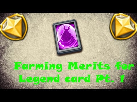 Castle Clash [Farming Merits For Legend Hero Card]