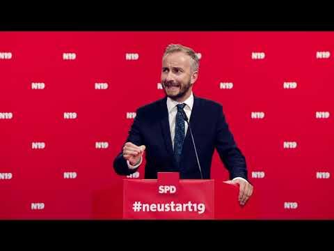 BÖHMERMANN  ALS SPD-CHEF?<br>Satiriker startet mit #Neustart19 eine Kampagne, um den Vorsitz der SPD zu übernehmen.