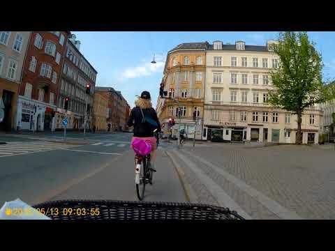Biking from Nørrebro to the start of the Copenhagen Marathon (Islands Brygge)