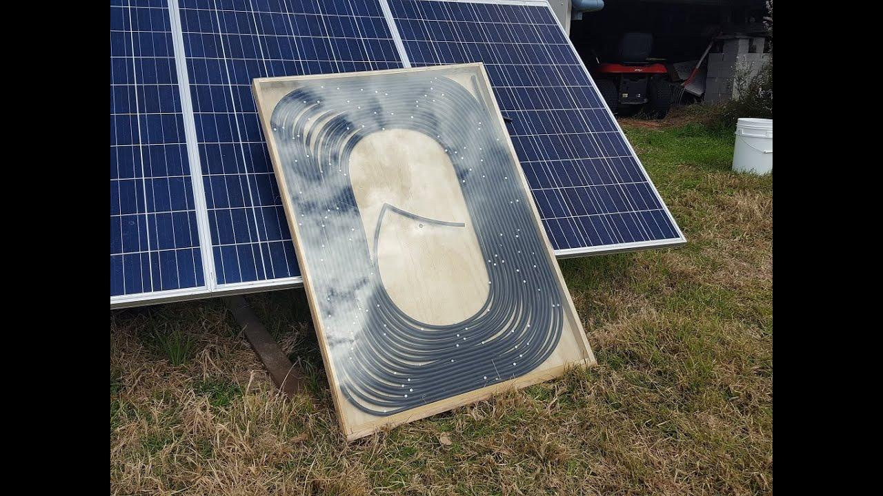 Off Grid Solar Power Diy Solar Hot Water Youtube