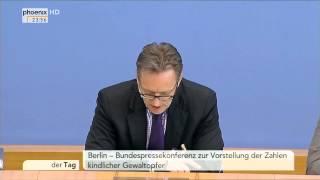 Gewalt gegen Kinder: PK mit Holger Münch und Prof. Kathinka Beckmann am 19.05.2015
