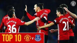 Top 10 Goals | Manchester United v Everton | Premier League