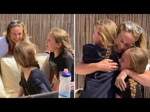 NHS mum reunited with daughters after more than two months apart| Coronavirus