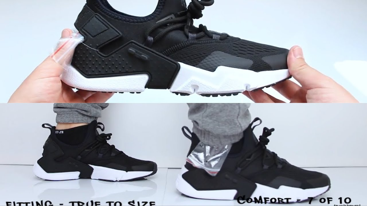 736ef23f0147 Nike Air Huarache Drift Sneaker UNBOXING ON FEET - YouTube