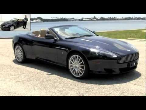 2007 Aston Martin DB9 Volante Convertible Midnight Blue Metallic