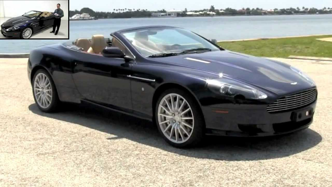 2007 aston martin db9 volante convertible midnight blue. Black Bedroom Furniture Sets. Home Design Ideas