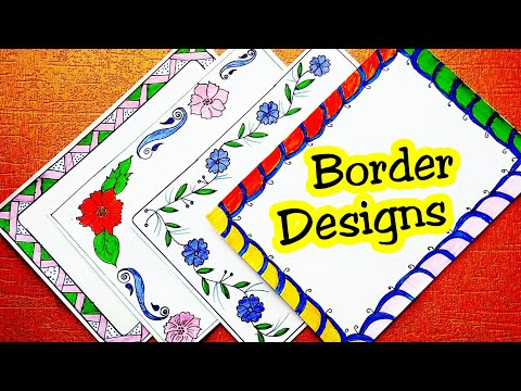 Border designs on paper | project design | border designs | file decoration ideas school easy