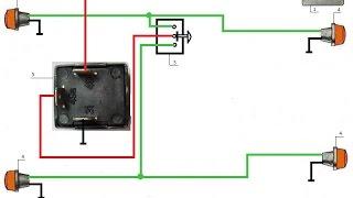 видео ВАЗ 2108 реле поворотов схема подключения