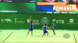 Romania (ROU) - 2018 Aerobic Worlds, Guimaraes (POR) - Group Qualifications