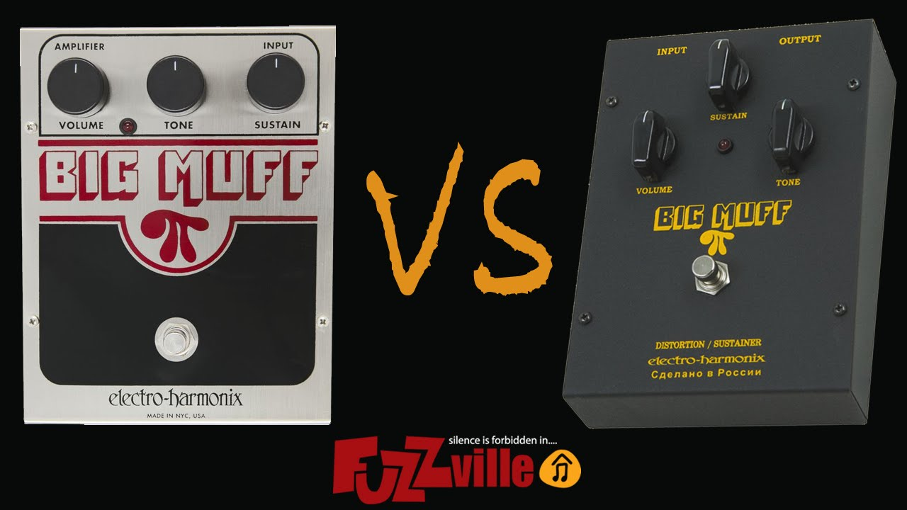 Ehx Big Muff Usa Vs Russian Black Youtube Electro Harmonix Pi Effect