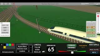 Roblox terminal Railways CRH3 China Railway Alyard oeste para Alyard leste