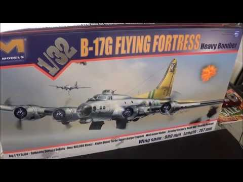 HK Models 1/32 B-17G Model Kit DETAILED Review Part 2 @ SMKR