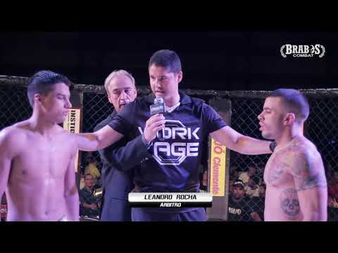 Luta pelo cinturão peso mosca entre: Gustavo Gabriel x Stenio Barbosa - Brabos Combat 2