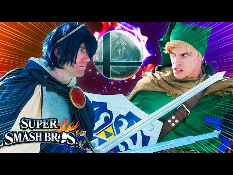 Super Smash Bros: Link Vs Marth (Live-Action)