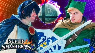 LINK vs MARTH (Legend of Zelda & Super Smash Bros)