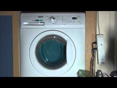 Zanussi Aquafall Washing Machine spinning for 10 hours (sleep and white noise relaxation)