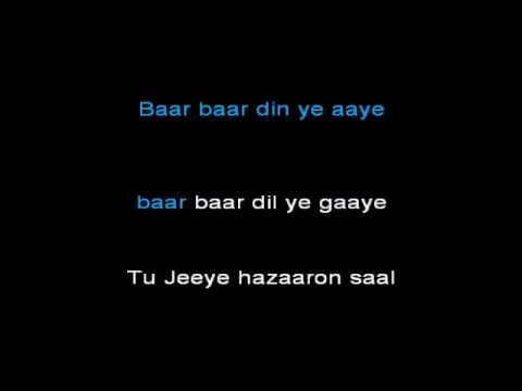 Baar Baar Din Yeh Aaye Lyrics from Farz | LyricsMasti.Com