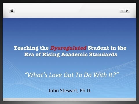 """""""What's Love Got To Do With It ?"""" - Teaching Emotionally Dysregulated Students."""