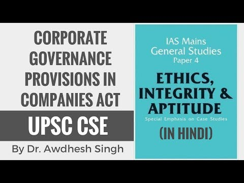 Corporate Governance Provisions in Companies Act - Ethics