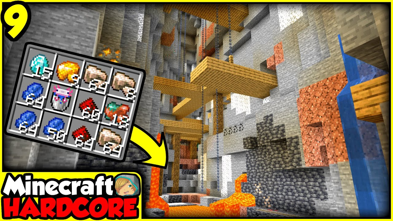 Download EXTREMELY DANGEROUS Mining in Hardcore Minecraft   Episode 9 (Let's Play)