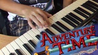 "Тема ""Время приключений"" на пианино (обучение) / How to play ""Adventure time"" theme on piano"