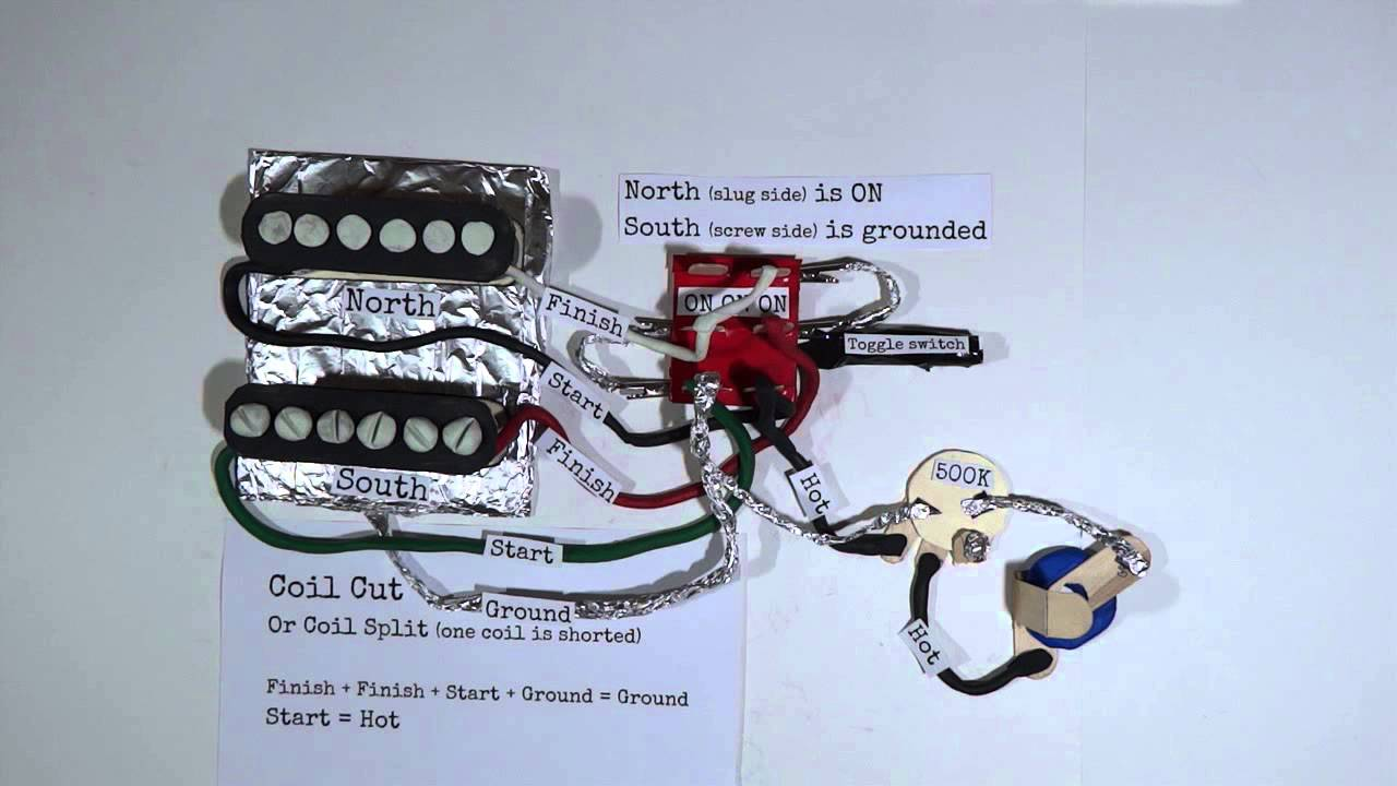 1 single coil humbucker wiring [ 1280 x 720 Pixel ]