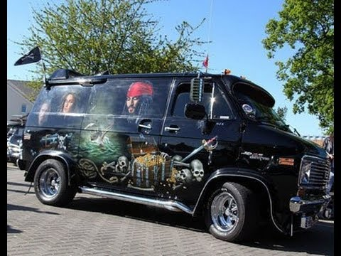 Chevy Van G20 The Black Pearl Custom Pirate Van Youtube