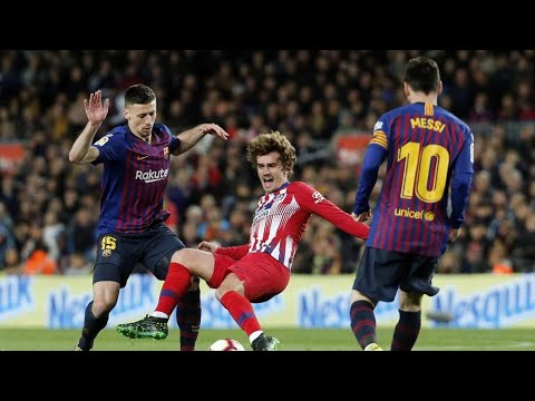 Lionel Messi Vs  Atletico Madrid  Highlights || Individual Skills And Dribbles ||English Commentary