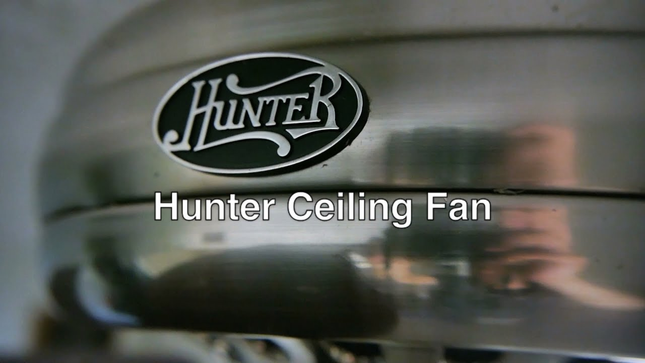 Hunter Ceiling Fans With Lights   Modern Flush Mount Wiring Parts       Hunter Ceiling Fans With Lights   Modern Flush Mount Wiring Parts   Blades  Rotation   Remote Switch   YouTube