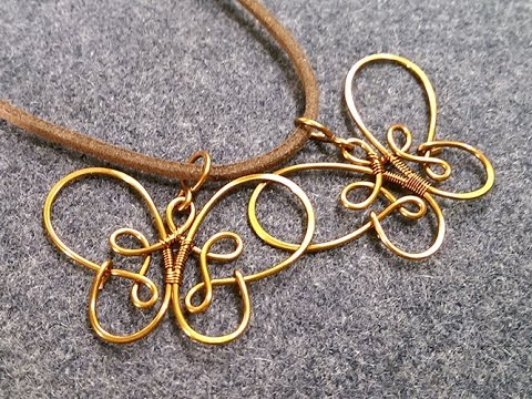 Simple Butterfly Pendant How To Make Wire Jewelry 225