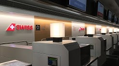 SWISS Terminal at Zürich Airport: Tour through the newly designed Check-in area during calm evening