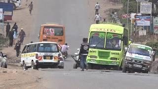 Road infrastructure in Kenya.