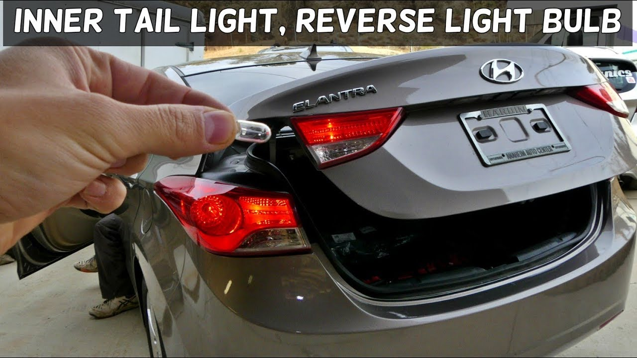 medium resolution of hyundai elantra inner tail light bulb reverse light replacement
